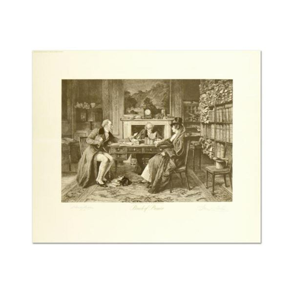 """W. Dendy Sadler (1854-1923), """"Breach of Promise"""" Plate Signed Lithograph with Letter of Authenticity"""
