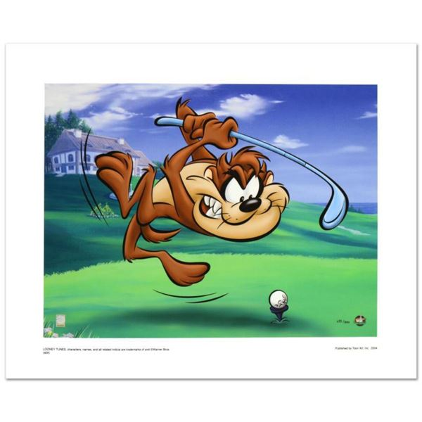 """""""Taz Tee Off"""" Limited Edition Giclee from Warner Bros., Numbered with Hologram Seal and Certificate"""