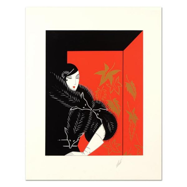 """Erte (1892-1990), """"Furs"""" Limited Edition Serigraph, Numbered and Hand Signed with Certificate of Aut"""