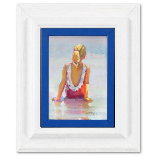 """Lucelle Raad, """"Water's Edge"""" Framed Original Acrylic Painting on Board, Hand Signed with Letter of A"""