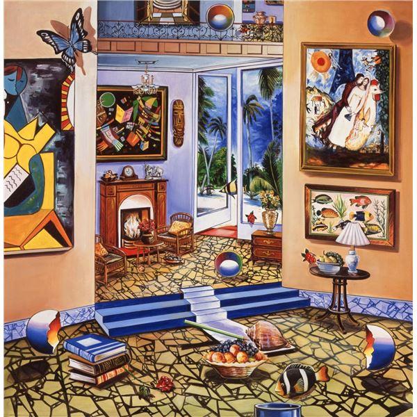 "Alexander Astahov- Original Giclee on Canvas ""Story Telling"""