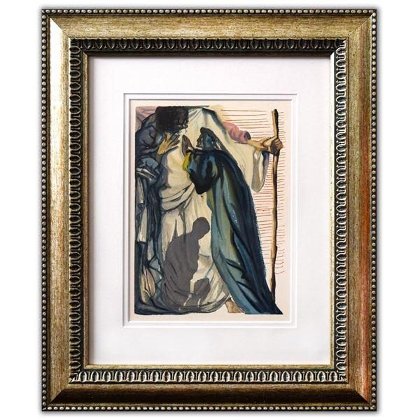 "Salvador Dali- Original Color Woodcut on B.F.K. Rives Paper ""Purgatory 14"""