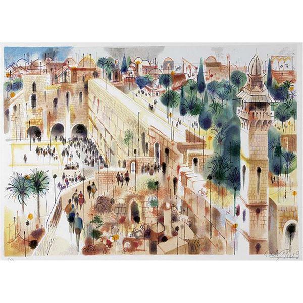 "Shmuel Katz- Original Serigraph ""Jerusalem"""
