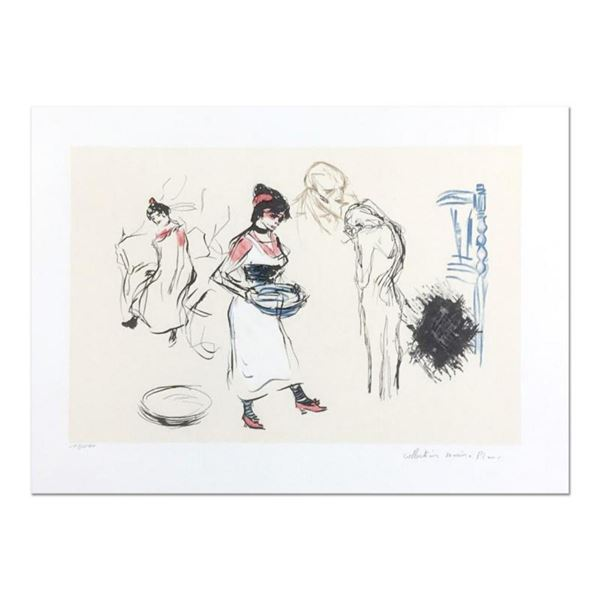 "Pablo Picasso (1881-1973), ""Etude de Personnages"" Original Lithograph, Limited to 500 Pieces and Han"