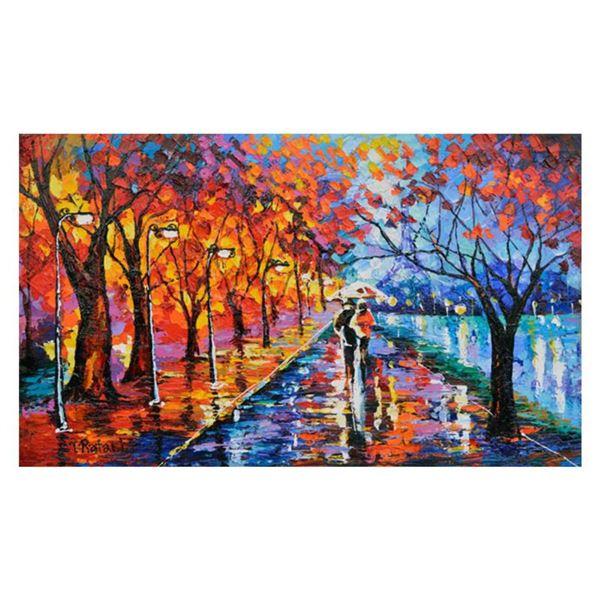 "Yana Rafael, ""Eiffel Dreams"" Hand Signed Original Painting on Canvas with COA."