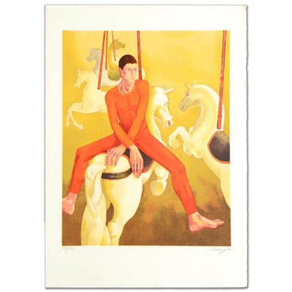 """""""Carousel"""" Limited Edition Lithograph by Daniel Riberzani, Numbered and Hand Signed by the Artist. C"""