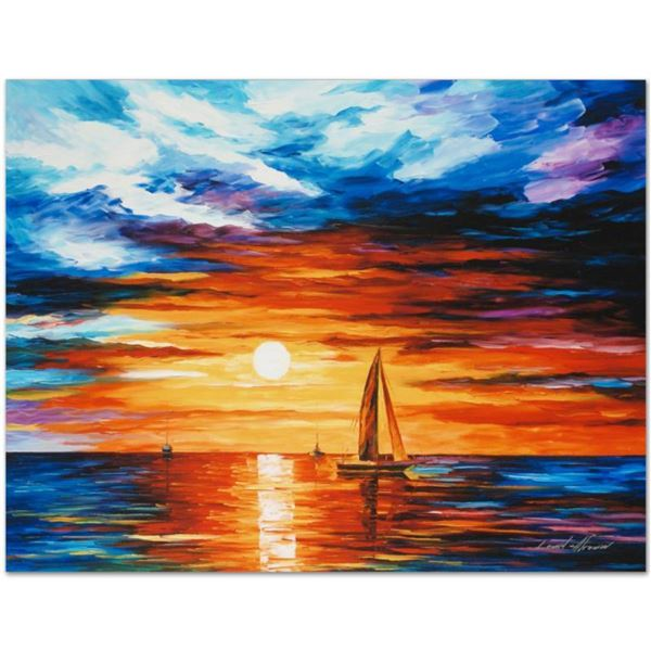 """Leonid Afremov (1955-2019) """"Touch of Horizon"""" Limited Edition Giclee on Canvas, Numbered and Signed."""