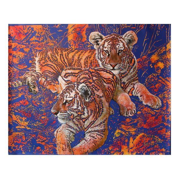 "Vera V. Goncharenko- Original Oil on Canvas ""Big Wild Cats"""