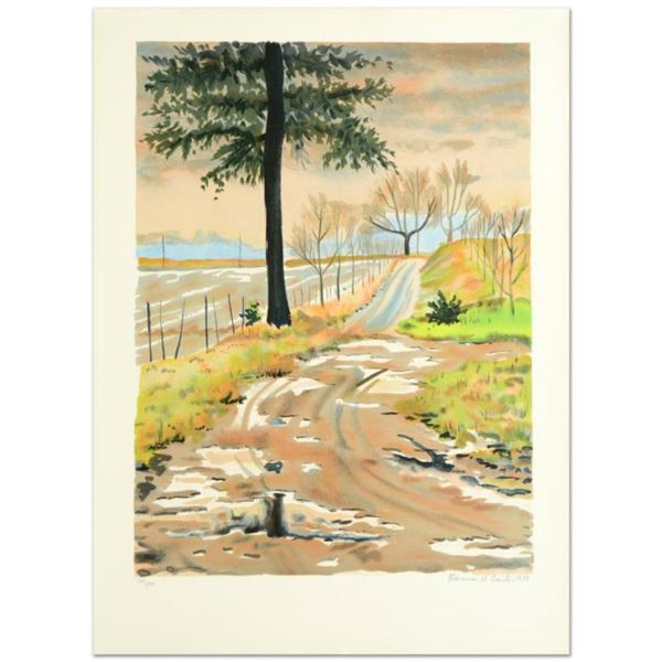 """""""Country Road"""" Limited Edition Lithograph by Clarence Holbrook Carter (1904-2000), Numbered and Hand"""