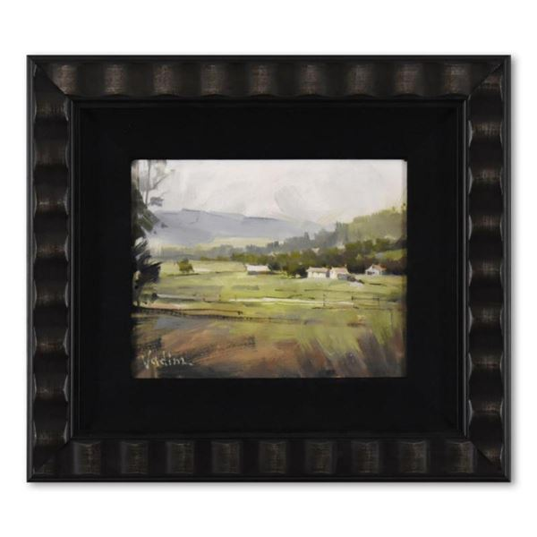 Vadim Zanginian, Framed Original Acrylic Painting on Board, Hand Signed with Letter of Authenticity.