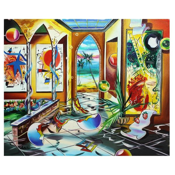 """Alexander Astahov- Original Oil on Canvas """"Tel-Aviv"""""""