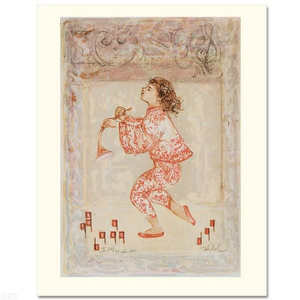"""Hibel (1917-2014), """"Footnotes for a Symphony"""" Limited Edition Lithograph, Numbered and Hand Signed w"""