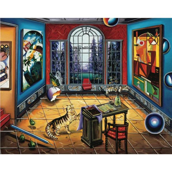 "Alexander Astahov- Original Giclee on Canvas ""Writing to Chagall"""