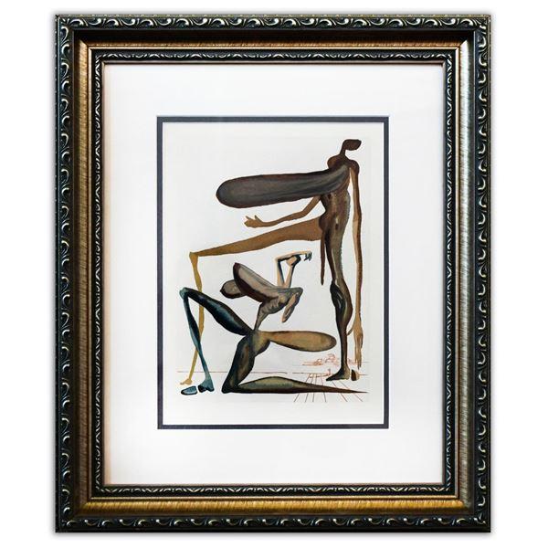 "Salvador Dali- Original Color Woodcut on B.F.K. Rives Paper ""Purgatory 22"""