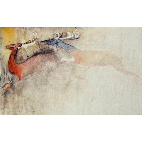 "Edwin Salomon- Original Serigraph ""Mating Season"""