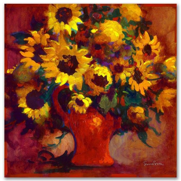 """""""Sunflowers"""" Limited Edition Giclee on Canvas by Simon Bull, Numbered and Signed. This piece comes G"""