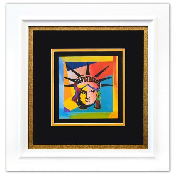"Peter Max- Original Lithograph ""Liberty Head XVI (Mini)"""