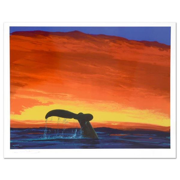"""""""Sounding Seas"""" Limited Edition Lithograph by Famed Artist Wyland, Numbered and Hand Signed with Cer"""