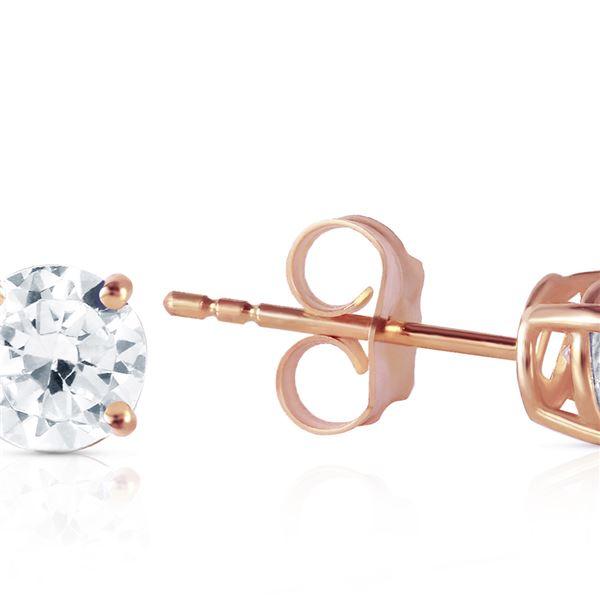 Genuine 0.60 ctw Diamond Anniversary Earrings 14KT Rose Gold - REF-151Z7N
