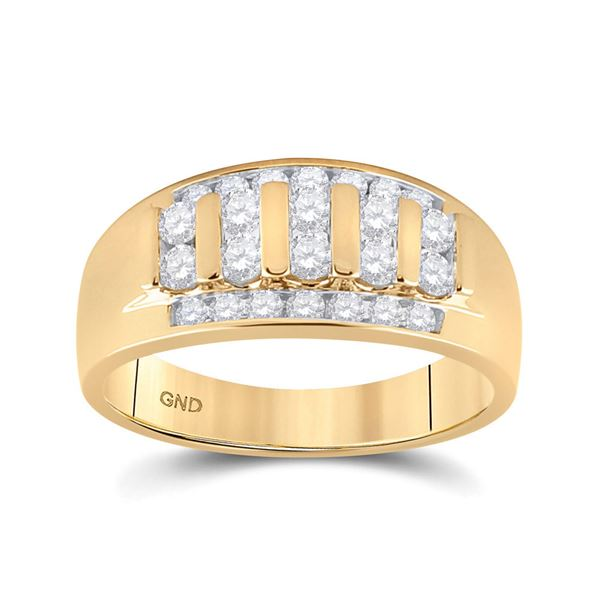 Round Diamond Wedding Band Ring 1 Cttw 10KT Yellow Gold