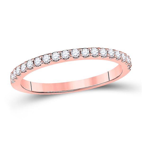 Round Diamond Wedding Single Row Band 1/4 Cttw 14KT Rose Gold