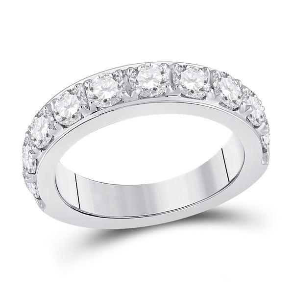 Round Diamond Single Row Band Ring 2 Cttw 14KT White Gold