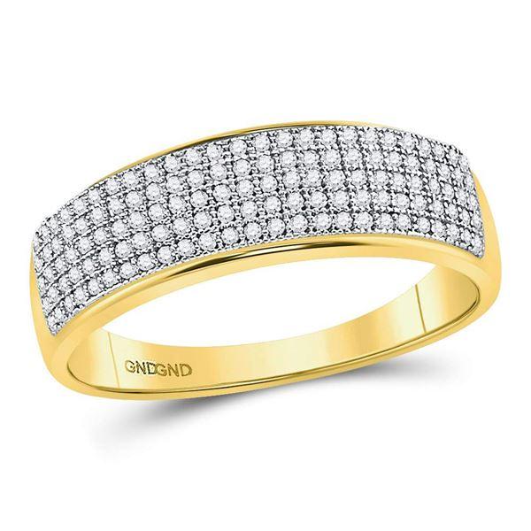 Round Diamond Wedding Band Ring 3/8 Cttw 10KT Yellow Gold