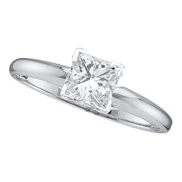 Princess Diamond Solitaire Bridal Wedding Engagement Ring 1/5 Cttw 14KT White Gold