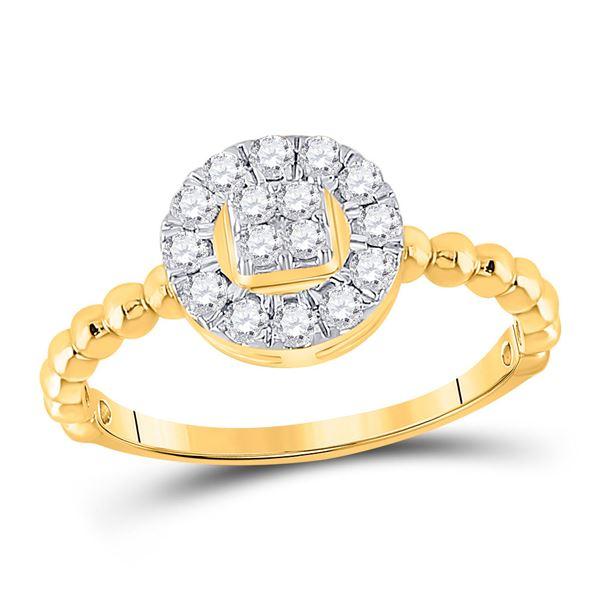 Round Diamond Circle Ring 1/3 Cttw 10KT Yellow Gold