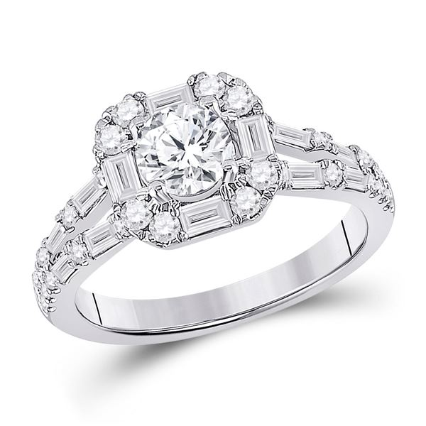 Diamond Solitaire Bridal Wedding Engagement Ring 1-3/4 Cttw 14KT White Gold