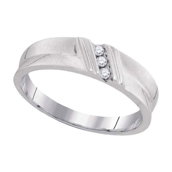 Round Diamond Wedding Band Ring 1/20 Cttw 10KT White Gold