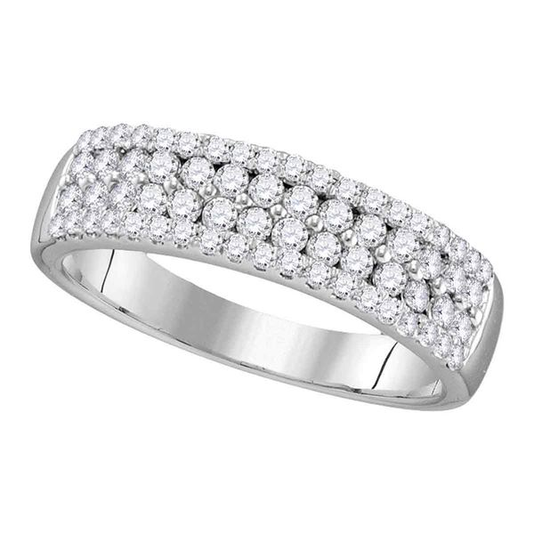 Round Diamond Pave Band Ring 1/2 Cttw 10KT White Gold