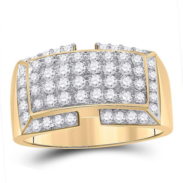 Round Diamond Fashion Ring 1 Cttw 10KT Yellow Gold