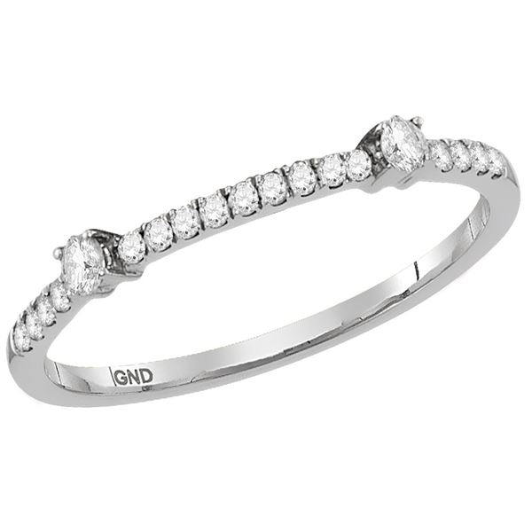 Round Diamond Stackable Band Ring 1/6 Cttw 14KT White Gold