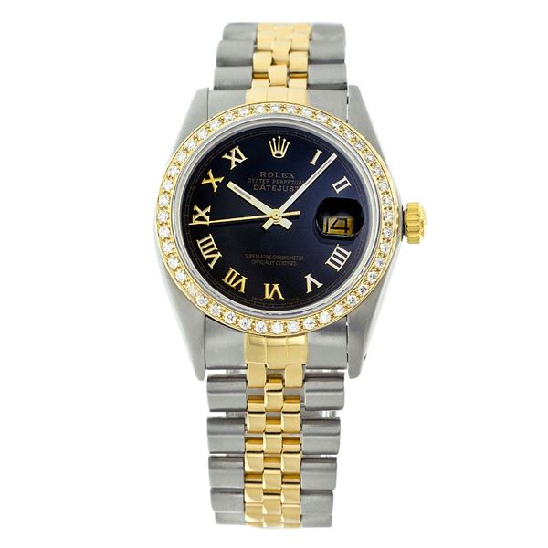 Rolex Pre-owned 36mm Mens Black Two Tone