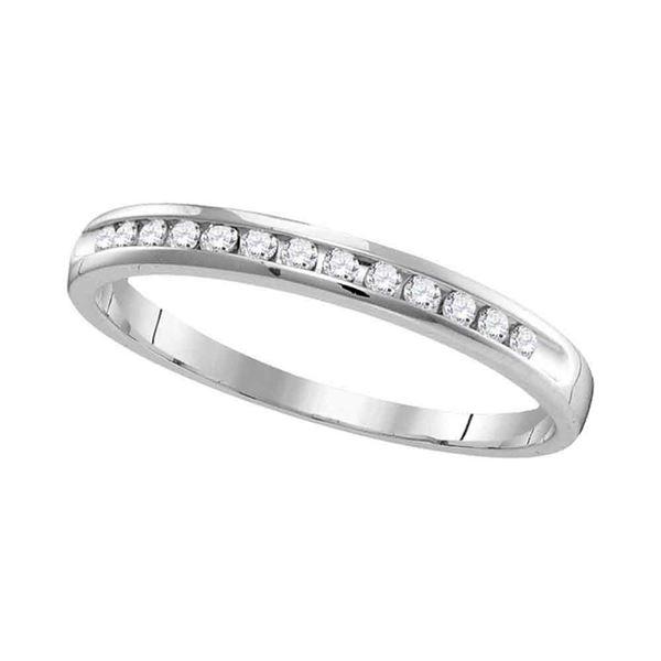 Round Diamond Wedding Band Ring 1/4 Cttw 14KT White Gold