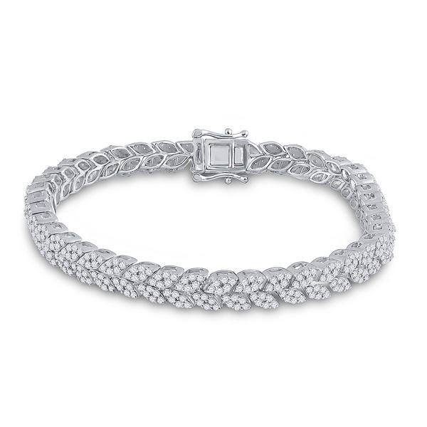 Round Diamond Fashion Bracelet 3-5/8 Cttw 14KT White Gold