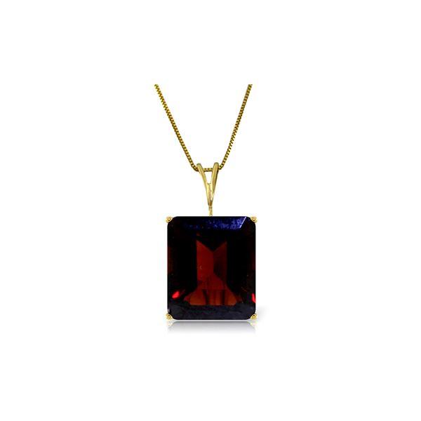 Genuine 7 ctw Garnet Necklace 14KT Yellow Gold - REF-38F2Z