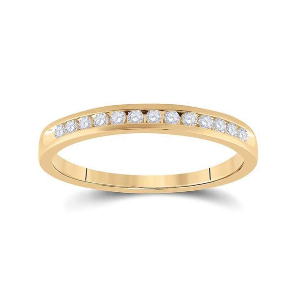 Round Diamond Wedding Band 1/6 Cttw 14KT Yellow Gold