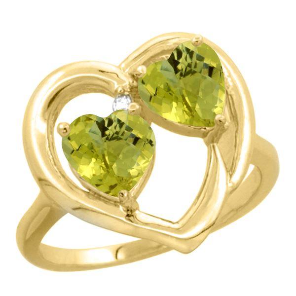 2.60 CTW Lemon Quartz Ring 14K Yellow Gold - REF-33N3Y