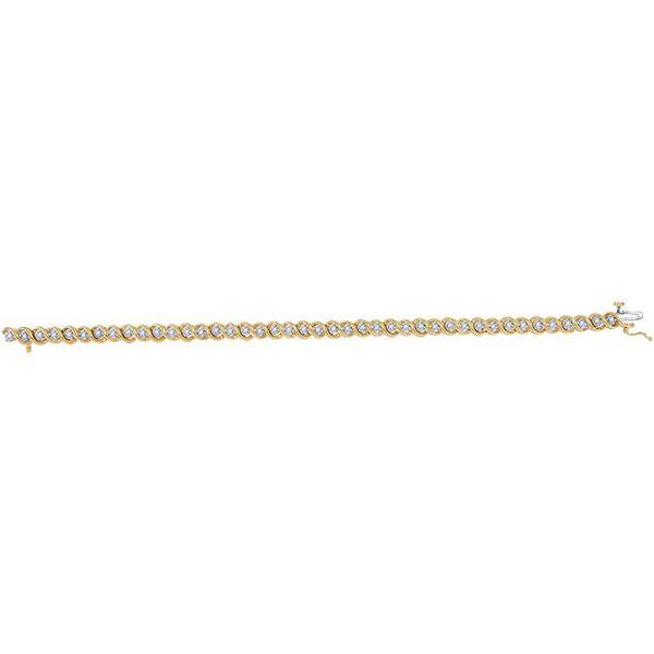 Round Diamond Tennis Bracelet 1/2 Cttw 10KT Yellow Gold