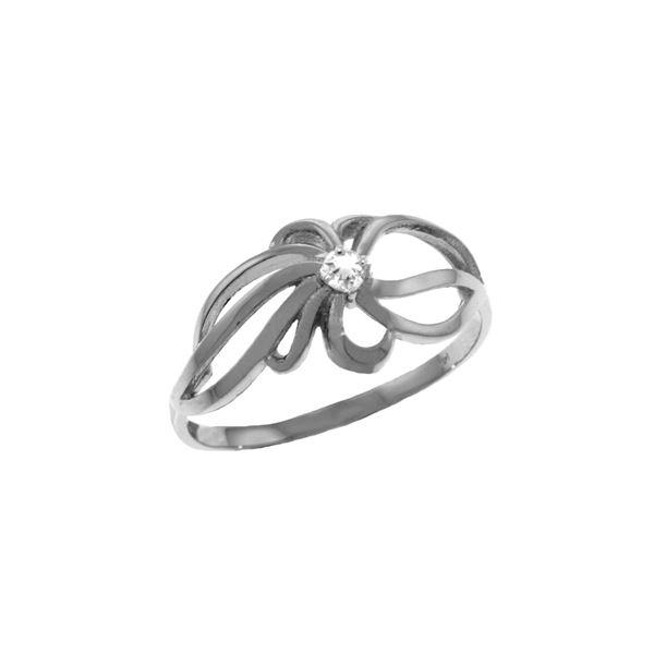 Genuine 0.05 ctw Diamond Anniversary Ring 14KT White Gold - REF-35M4T