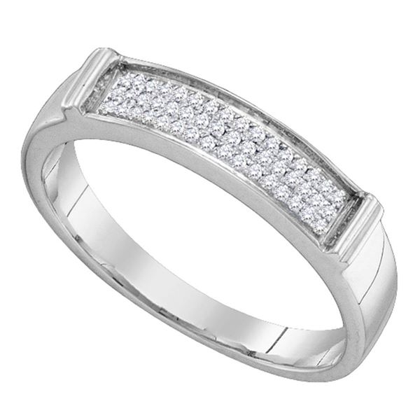 Round Diamond Band Ring 1/10 Cttw 10KT White Gold