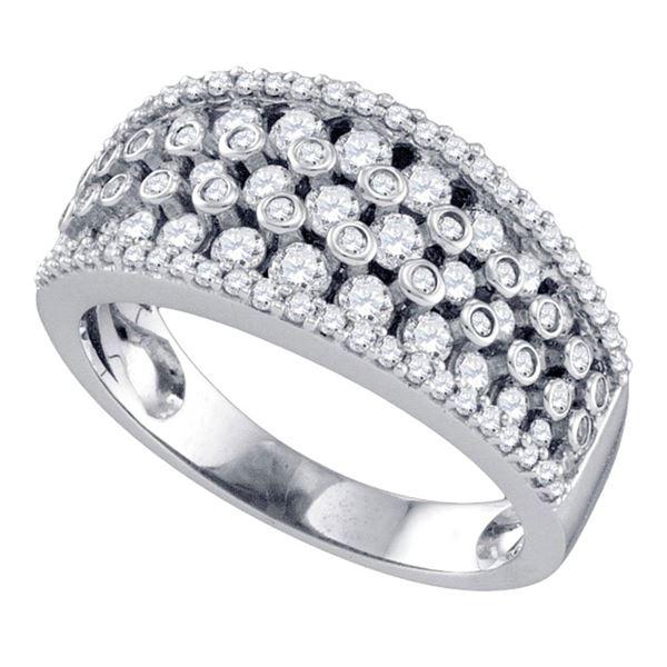 Round Diamond Band Ring 1 Cttw 10KT White Gold
