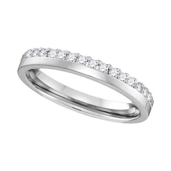Round Diamond Wedding Band Ring 1/5 Cttw 14KT White Gold