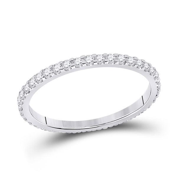 Round Diamond Eternity Wedding Band 1/2 Cttw 14KT White Gold