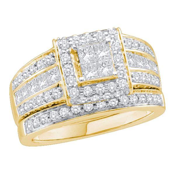 Bridal Wedding Ring Band Set 1-5/8 Cttw 14KT Yellow Gold