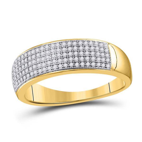 Round Diamond Wedding Band Ring 1/3 Cttw 10KT Yellow Gold