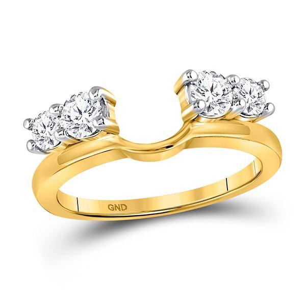 Round Diamond Solitaire Enhancer Wedding Band 3/4 Cttw 14KT Yellow Gold