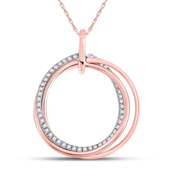 Diamond Circle Pendant 1/6 Cttw 10kt Rose Gold